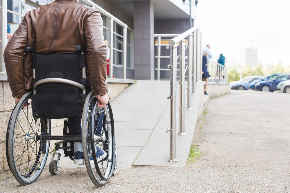 Rampa de acceso silla de ruedas